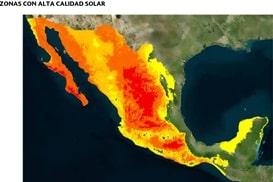 Mapa de calidad solar en México
